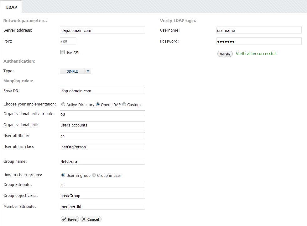 LDAP Settings - NetVizura User Guide - NetVizura User Guide